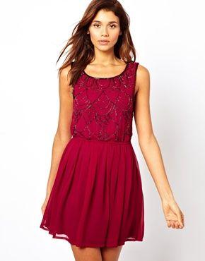 Image 1 ofLipsy Embellished Skater Dress