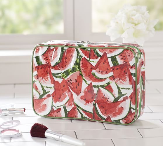 watermelon print cosmetic bag