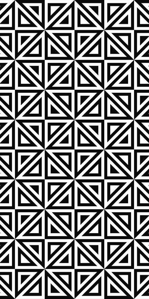Seamless Monochrome Triangle Pattern Design Geometric Patterns