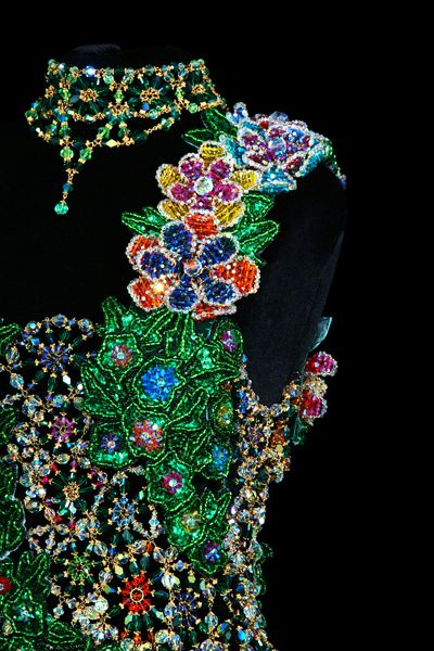 Beaded Dress Designed by Gail Be