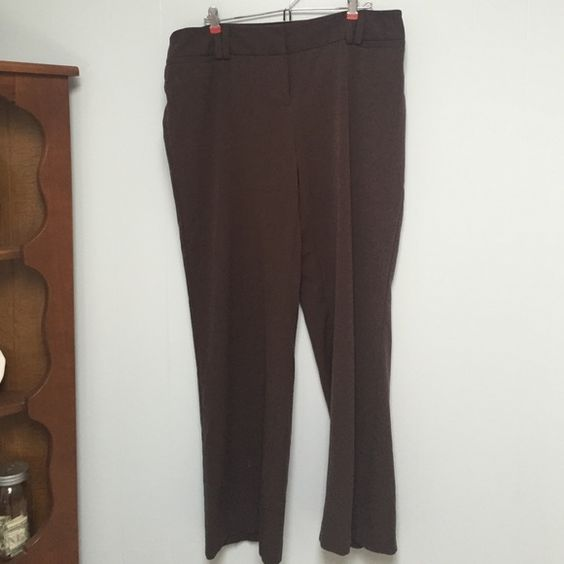 Apt 9 Trousers Sz 16 Apt 9 Chocolate Dress Trousers. Maxwell Style. Size 16. 64% Polyester, 33% rayon, 3% Spandex . worn a few times Apt. 9 Pants Trousers