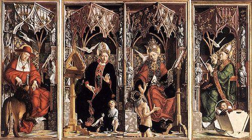 Michael Pacher - Church Fathers -St Jerome -1480