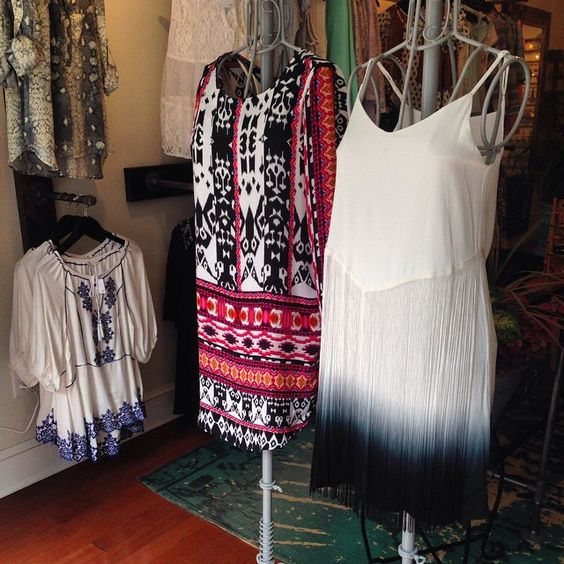 Stand out with these dresses! Only at www.indigobleufashion.com #fringe #ombre #dresses #boho #hippie #bohemian