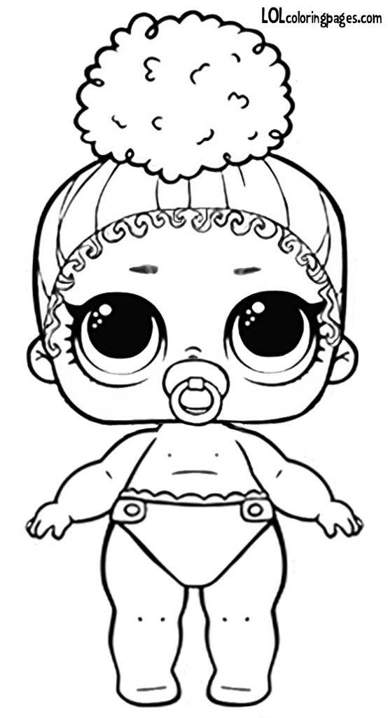 Lil Boss Queen Lol Coloring Page