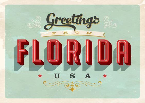 Forida - Vintage Style | Urlaubsgrüße | Echte Postkarten online versenden…