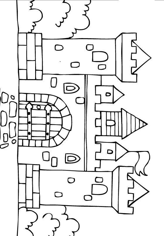 Castillo De La Princesa Blancanieves Para Colorear Dibujos Para Colorear De Castillo De Princesas Medieval Crafts Art Drawings For Kids School Coloring Pages