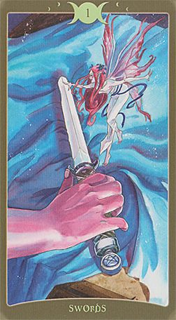 SO BELOW DECK BOOK OF SHADOWS TAROT V2 - Ace of Swords