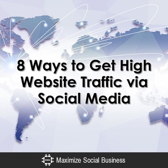 8 Ways to Get More Website Traffic via Social Media