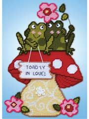 Plastic Canvas Kits - Toadly in Love Plastic Canvas Kit