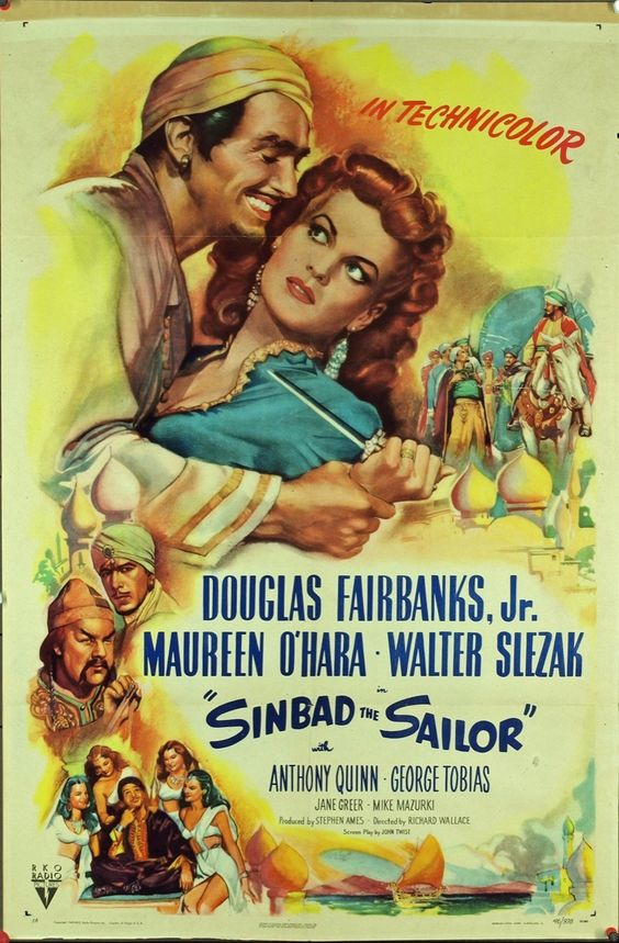 MovieArt Original Film Posters - SINBAD THE SAILOR (1947) 16232, $350.00 (http://www.movieart.com/sinbad-the-sailor-1947-16232/)
