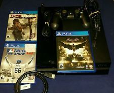 Sony PlayStation 4 (Latest Model)- 500 GB Black Console with games