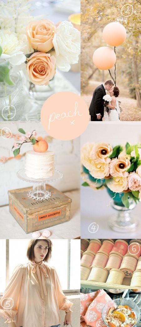 décoration de mariage pêche  mariage couleur pêche