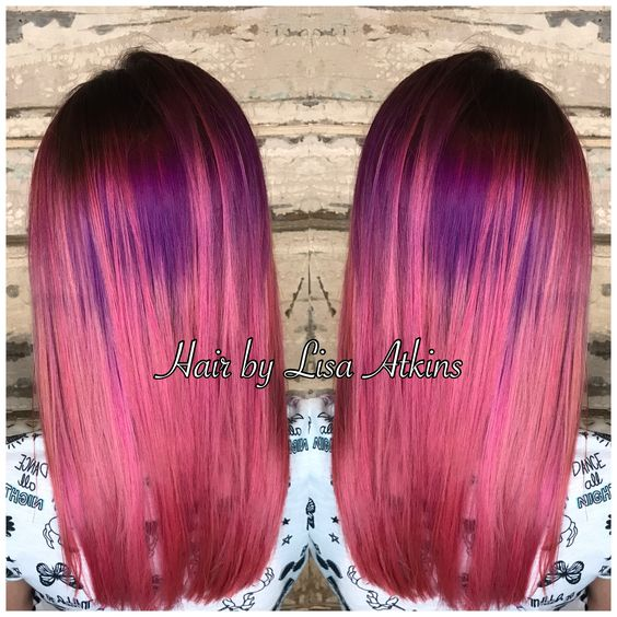 Pink and purple hair with vivids