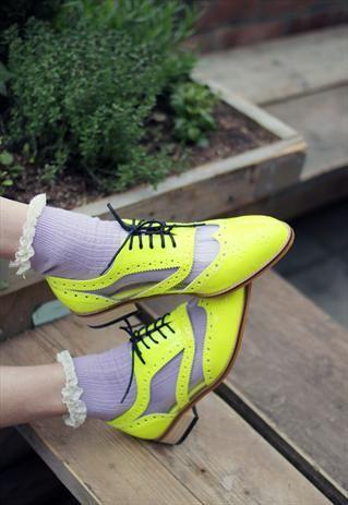 Neon / Transparent Oxford Shoes