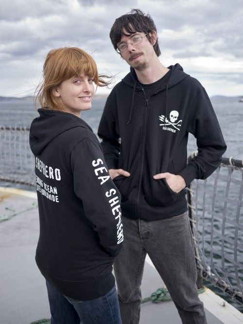 Fabuleux Sea Shepherd - Sea Shepherd Jolly Roger Full-Zip Sweatshirt  SD65