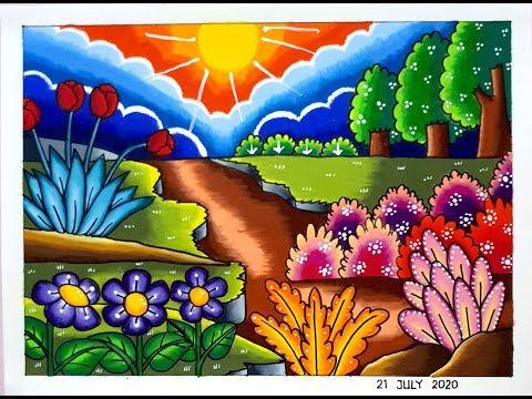 Gambar Pemandangan Bunga Yang Indah