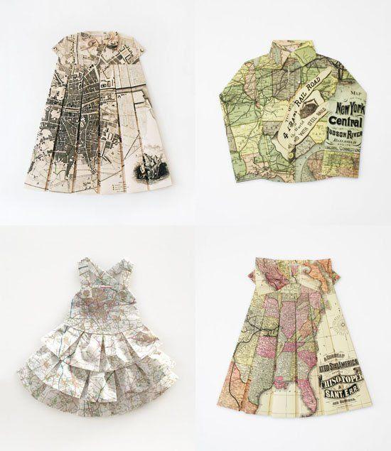 Les robes géographiques por Elisabeth Lecourt
