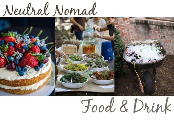 Summer Celebrations - Birthday Party: Neutral Nomad, Food & Drink.