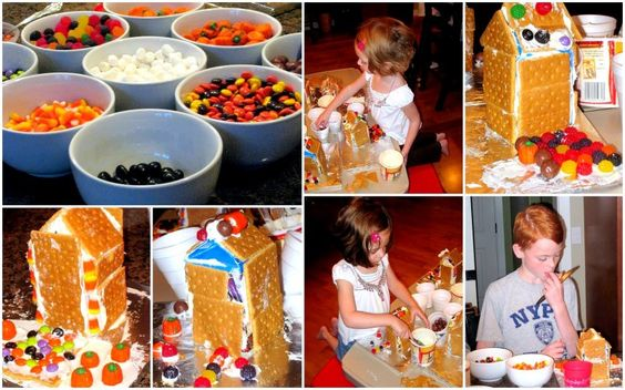 : {haunted gingerbread houses}...use chocolate graham crackers!!!