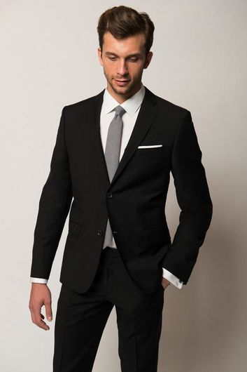 HUGO BOSS SLIM FIT BLACK SUIT | MEN'S FASHION | Pinterest | Boss