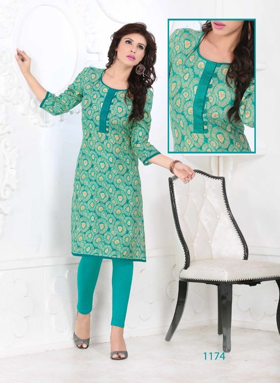 Great find under 550... Check it out... http://www.thefirstbazaar.com/product/tfb-printed-cotton-blue-kurti-1174/ … #fashion #india #women #kurti #thefirstbazaar