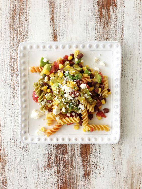 .Fiesta Pasta Salad  Green Chile Lime Vinaigrette  Recipes Board