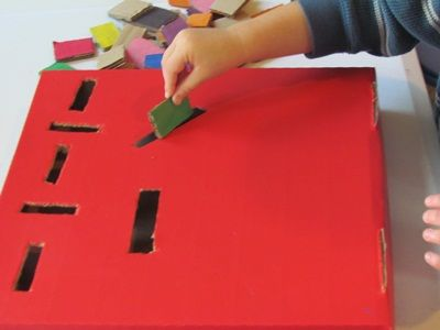 Cardboard slot box - Re-pinned by @PediaStaff – Please Visit http://ht.ly/63sNt for all our pediatric therapy pins