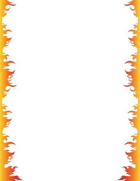 Fire page border. Free downloads at http://pageborders.org/download ...