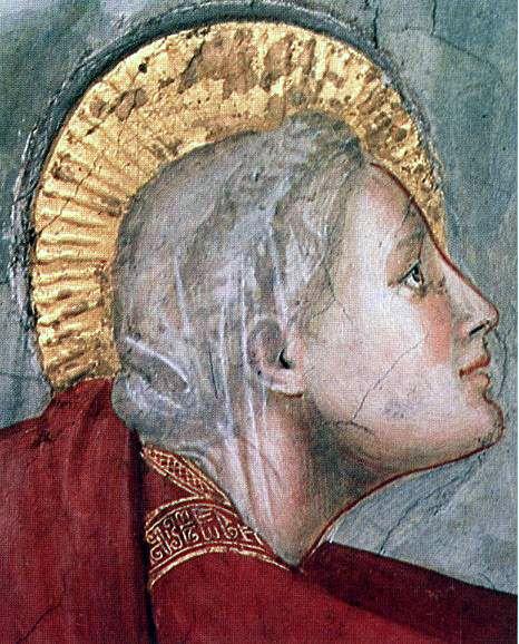 Scènes de la vie de Marie-Madeleine : Noli me tangere(détail), par Giotto - Eglise Saint-François d'Assise