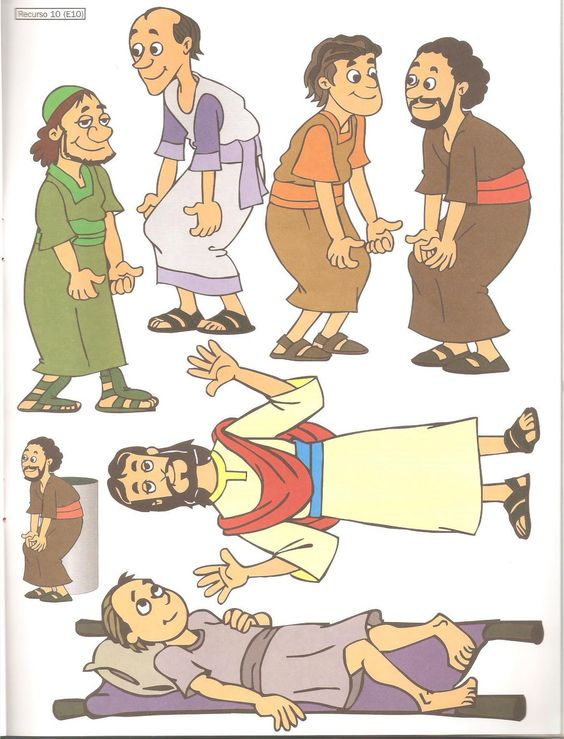 Matthew 9 1 8 mark 2 1 12 luke 5 17 26 four friends for Jesus heals paralyzed man craft