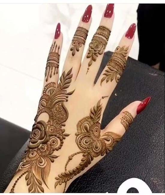 Gulf Rose Henna Design Trend 2019 Latest Mehndi Designs Mehndi Designs For Hands Mehndi Designs 2018