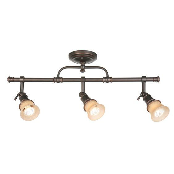 Shop allen + roth Specialty Bronze 2-Wire Connection Roundback Standard Linear Track Lighting Head at Lowes.com
