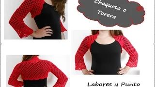 chaqueta calada a crochet - YouTube
