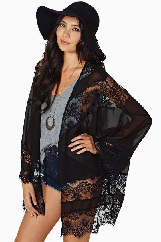 Sheer Caress Kimono - Black: Tops Jackets, Jackets Coats, Nasty Gal, Caress Kimono