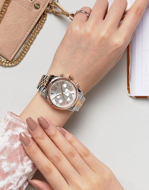 Michael Kors MK5735 Lexington bracelet watch in mixed metal | ASOS
