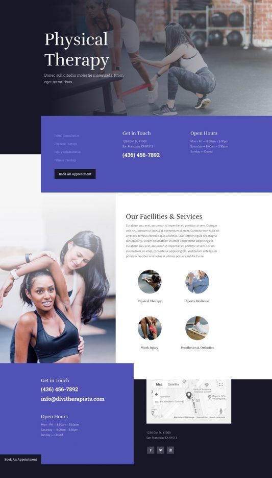 The Physical Therapy Layout Pack Therapy Website Design Wordpress Website Design Therapy Website