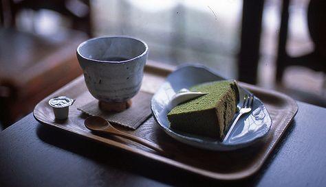 Matcha chiffon cake!