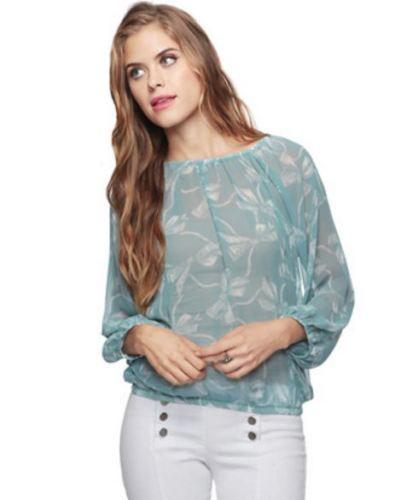 FOR SALE $7! Forever-21-Bow-Print-Blouse-in-AQUA-BLUE-WHITE-size-MEDIUM #ebayselling #thrift #secondhand #forsale #selling #Forever21 #bows #bowprint #blouse #turquoise #springfashion # summerfashion #spring #summer