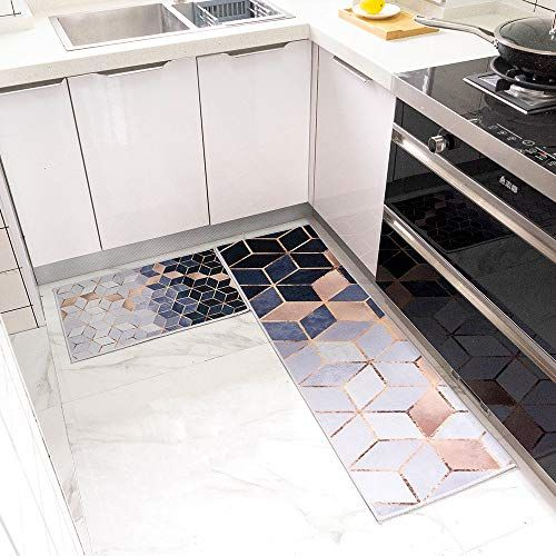 Kitchen Mat Set 2 Pieces Waterproof Non Slip Kitchen Rug Rubber Backing Doormat Runner Rug Kitchen Rug Kitchen Mat Rug Sets