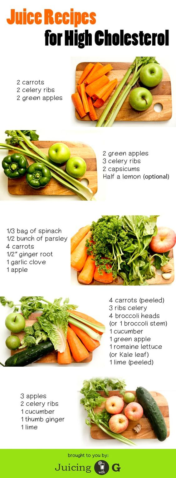 6 Juice Recipes that will help you lower down bad cholesterol. Plus helpful information about high cholesterol in general.