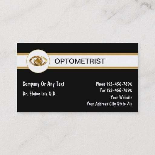 Optometrist Business Cards Zazzle Com Optometrist Business Card Size Standard Business Card Size