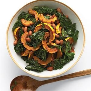Delicata Squash Salad With Kale And Cranberry Beans from Whole Living, found @Edamam!