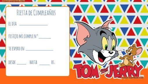 Candy Bar Tom Y Jerry Kit Para Imprimir Gratis Tom Y Jerry