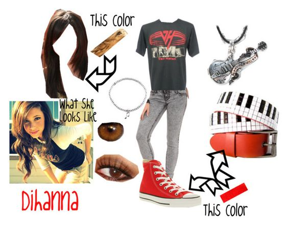 """""""Dihanna"""" by tjroxa ❤ liked on Polyvore featuring Converse, ChloBo and Sourpuss"""