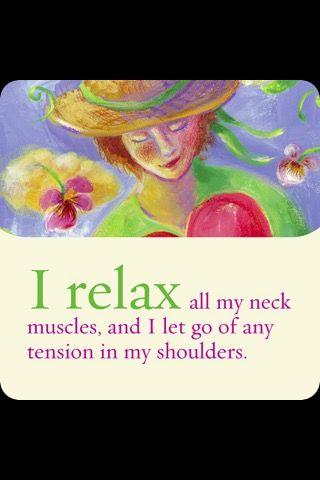 I relax....