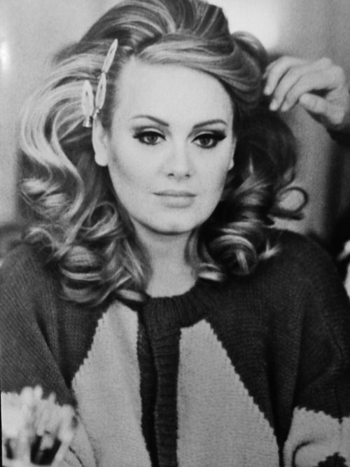 Adele - again, I would kill for her hair.  At least I know now she wears hair pieces.  I knew no human could have such perfect hair naturally.