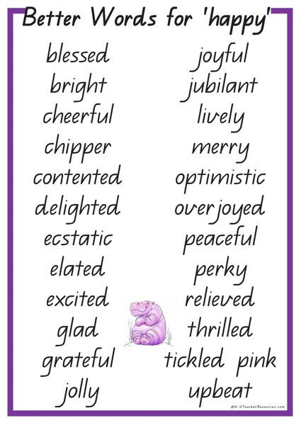 24 Better Words for HAPPY: