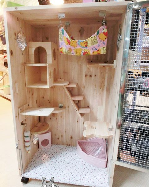 Chinchilla Cages decorated by from a Chinese website. Description from ppsamm.wordpress.com. I searched for this on…