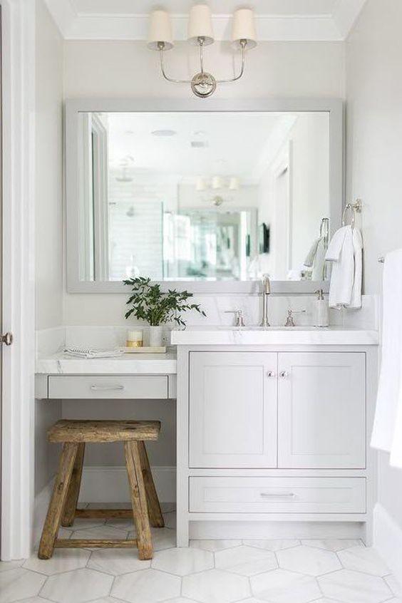 25+ Inspirierend Badezimmer Eitelkeit mit Sitzgelegenheiten Ideen