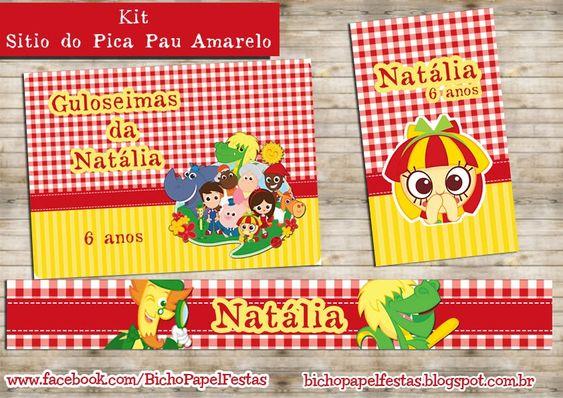 Kit Festa Sítio do Pica Pau Amarelo Para Imprimir